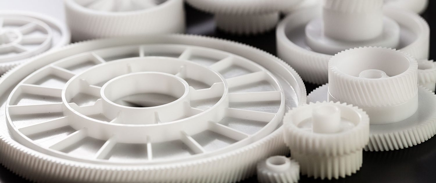 Variety of White Plastic Gears